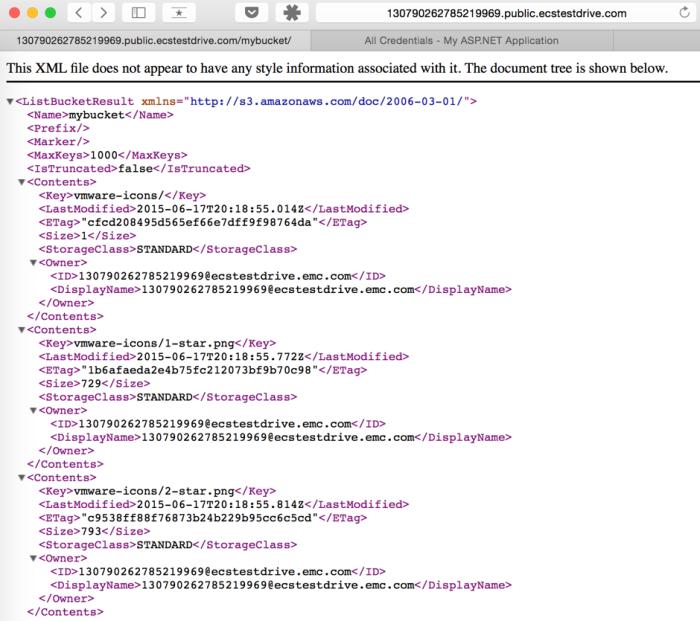 Test ECS in browser