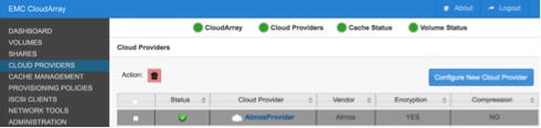 Atmos Cloud Provider in CloudArray 5