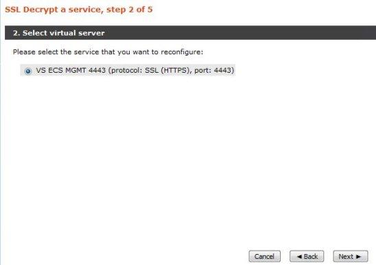 ECS API via vTM