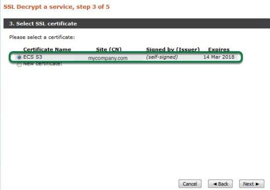 ECS API via vTM-11