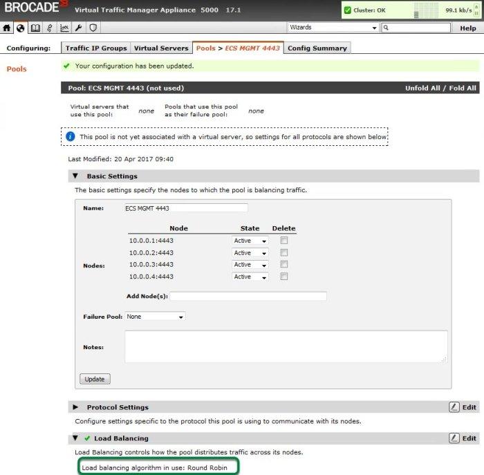 ECS API via vTM-3