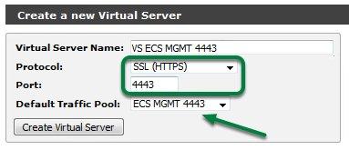 ECS API via vTM-5