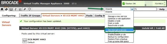ECS API via vTM-8