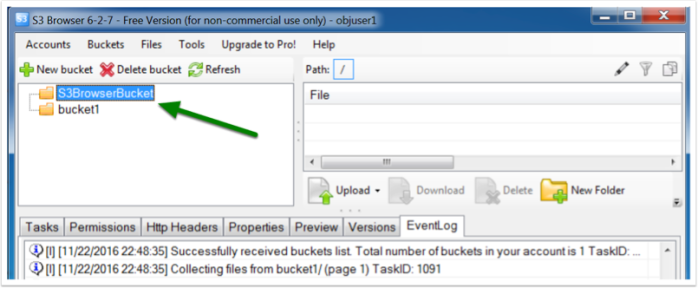 ECS bucket S3 versioning via GUI tools