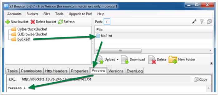 ECS bucket S3 versioning via GUI tools-8
